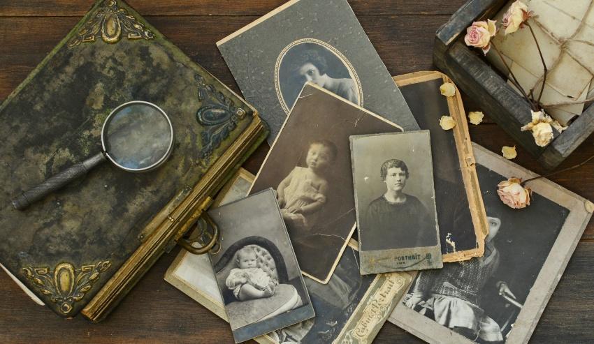 Fotoalbum einer Familie