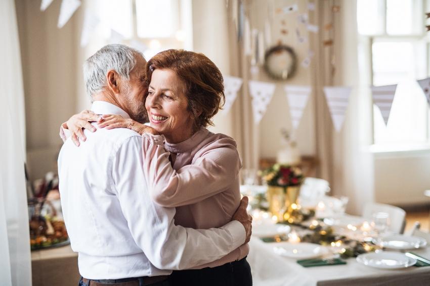 Tanzendes älteres Paar