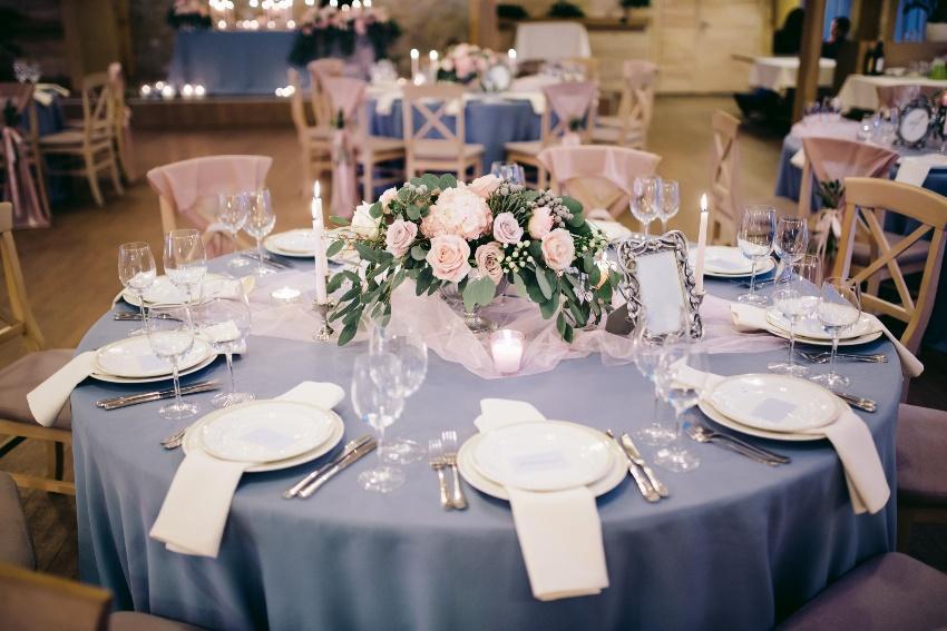 Tischdekoration zur Diamanthochzeit