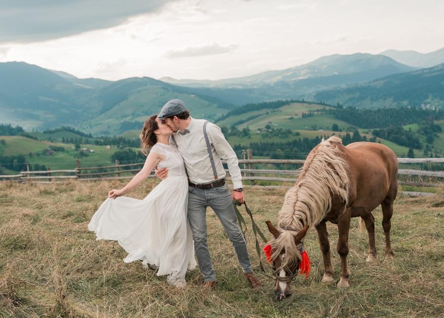 Bauernhof-Hochzeit