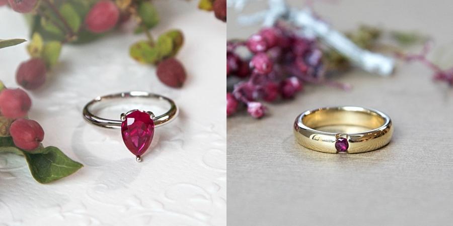 rubinringe Ring mit Edelstein