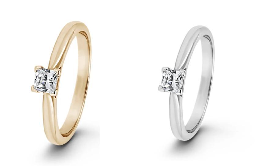 Verlobungsring mit Princess-Schliff Diamant