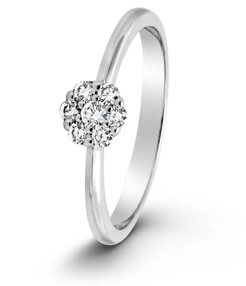 Julieta 0,16 ct. Verlobungsring aus Silber mit Diamant (0,16 ct.)
