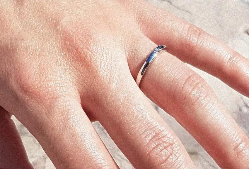 Isobel 0,04 ct. Verlobungsring aus Weißgold mit Diamant (0,04 ct.) Ringschiene anpassen