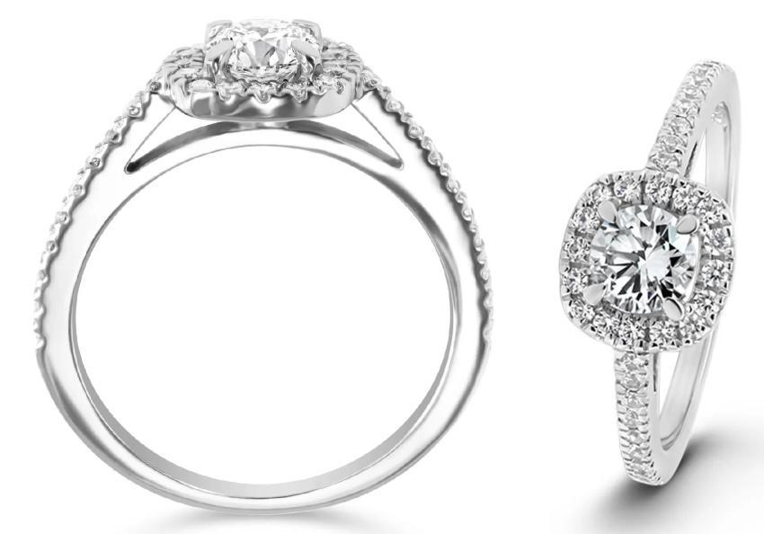 Whispering Love 0,86 ct. Verlobungsring aus Weißgold mit Diamant (0,86 ct.)