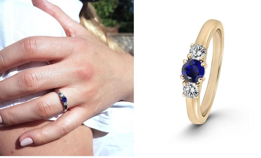 Shannon 0,5 ct. | Verlobungsring aus Roségold mit Blauer Saphir (0,50 ct.)