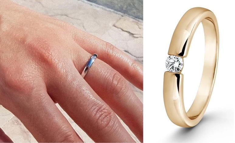 Isobel 0,15ct. | Verlobungsring aus Roségold mit Diamant (0,15 ct.)