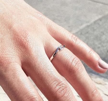 Summertime - Verlobungsring aus Silber mit Diamant (0,5 ct.)