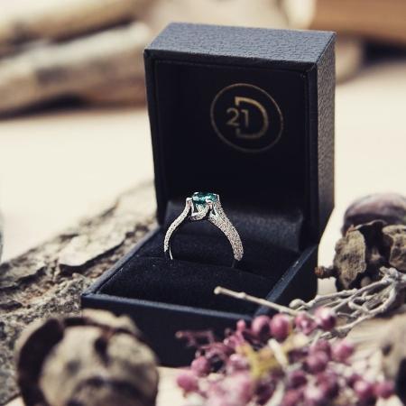 Verlobungsring Smaragd