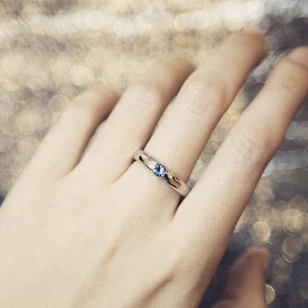 Verlobungsring mit blauem Topas