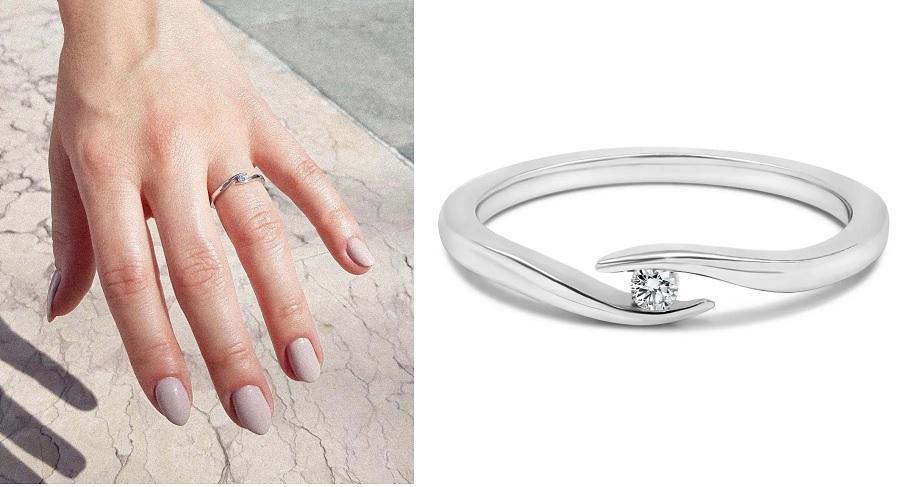 Summertime   Verlobungsring aus Weißgold mit Diamant (0,05 ct.)