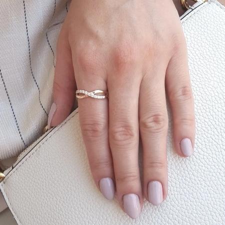 Brooklyn 0,16ct. Schmuckring aus Roségold mit Diamant