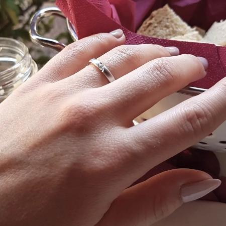 Verlobungsring Gratia aus Weißgold mit Diamant (0,04 ct.)