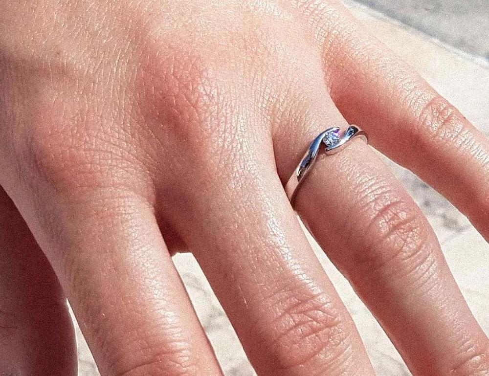 Summertime   Verlobungsring aus Gelbgold mit Diamant (0,10 ct.) 549,00 € *