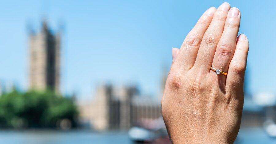 Heiratsantrag in London