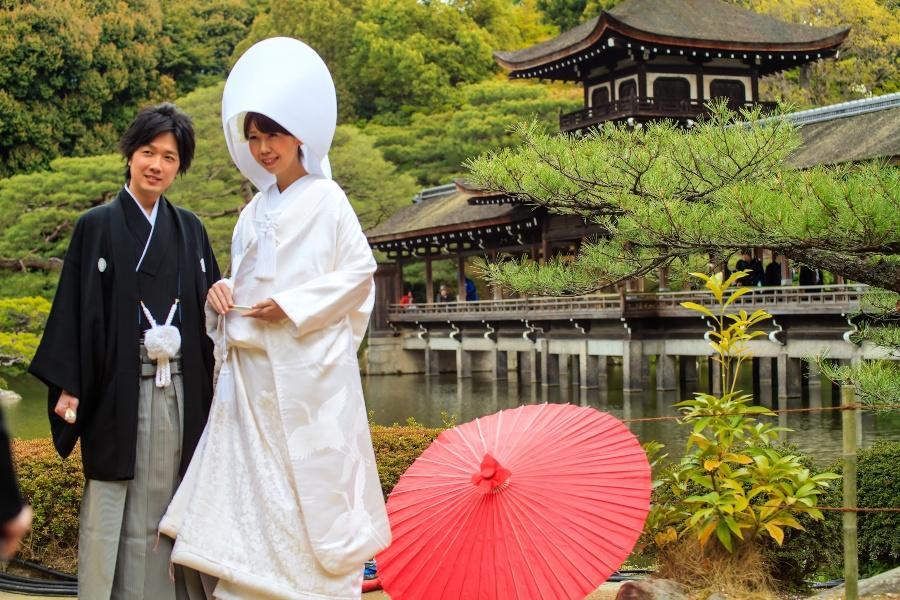 Typisch Japanisches Brautpaar